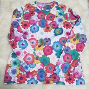 XL Shirt SPF Performance Floral Swim Beach